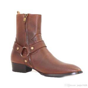 botas de topo tornozelo moda de alta qualidade hademade couro genuíno jodhpur botas Persional 2019ss nova de couro de vaca tomada lista fábrica