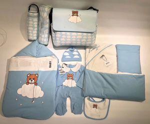 Новорожденный ребенок спальные мешки для новорожденных Baby Sleep Wear Комбинезон Удобные мягкие теплые постельные принадлежности младенца комбинезонов с шляпой и нагрудник и пеленок мешок