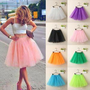 Newest Adult Women Party Costume Petticoat Princess Tulle Tutu Skirt Pettiskirt Jupe Femme Drop Shipping
