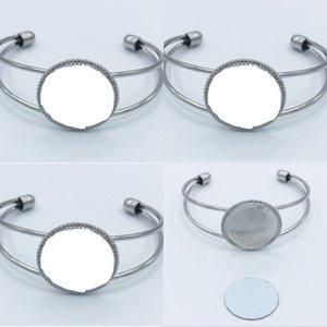 Lady Sublimation Leere Eröffnungskette DIY Schmuck Frauen Thermische Übertragung Druck Mode Kirsite Charme Armband 5 8hy J2