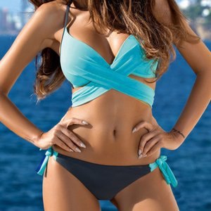 Kancool Acochado und Push Up BH Kit, Badeanzug, Poolspiele, sexy Frauen Bikini, Hälfte, 24. Juli,