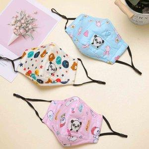 Симпатичные дети партии Маски с Panda Tiger Форма Breath Valve Мода Сова Кролик Медведь ситец маска для лица Anti-пыли Моющийся Детские маски