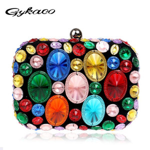 Gykaeo 2020 Fashion Women Dinner Party Small Crossbody Bag Ladies European and American Style Banquets Evening Day Clutch Bags