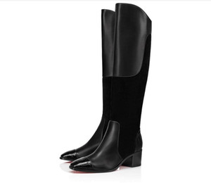 Mode Trending Mosaica longue Cuissardes Bottes rouges Chaussures Bas Fashion Style Hiver Lady Lady bottillons Party Bridals mariage