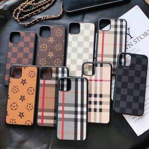 Темно-коричневая кожаная установка Craft Phone Case для iPhone 12 Mini 11 Pro Max X XS XR для серии Samsung