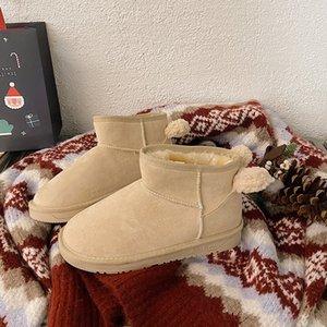 Gxte heel boot loong de la rodilla de invierno botas de tacón alto de la rodilla autumnelástica correas de terciopelo detrás grueso 6,5 cm delgado 5050 de las patas altas de las patas planas botas femeninas
