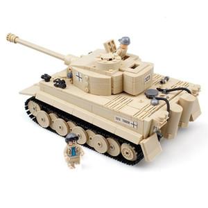 AIBOULLY 82011 NEW 995pcs Century Military Building Blocks German King Tiger Tank Model Enlighten Eduction Toys For Children X0102