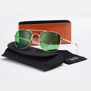 Sunglasses American Army Optical Ao 8054 Men 2021 Brand Designer Rectangle Aviation Driving Glasses Moda Masculina