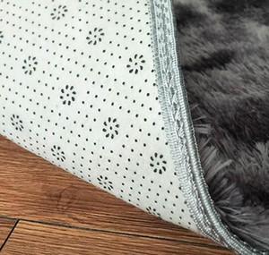 Anti-slip Floor Mats Grey Carpet Tie Dyeing Plush Soft Carpets Bedroom Water Absorption Carpet Rugs For Living jllSiJ ffshop2001