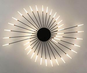 İskandinav Oturma Odası Basit Modern Atmosfer Işık Lüks Yaratıcı Kişiselleştirilmiş Oda Yatak Odası Altın Havai Fişek LED Tavan Lambası Özellikler