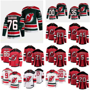New Jersey Devils 2021 Reverse Retro Jersey Blackwood Mackenzie Bratt Jesper Butcher Carrick Connor Gusev Nikita Custom Possitched