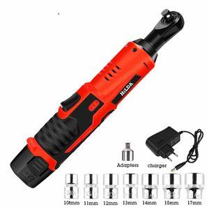 HILDA 12V Elektroschrauber Kit Cordless Ratsche Wiederaufladbare Baugerüst Drehmomentratsche mit Sockets Tools Power Tools