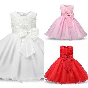 Q8ow Abiti Prima Comunione Anno di Comunione per per Flower Girl Dresses Girls Weddings Prom Kids Bambini039; s 3-12 2019 Abbigliamento