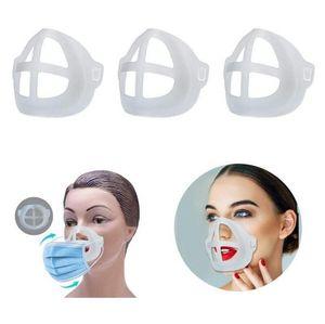 3D Ağız Maske Destek Ruj Koruma Food Grade Silikon Maske Tutucu Nefes Vana Nefes Aksesuarlar AHF1145 Assist Destekler