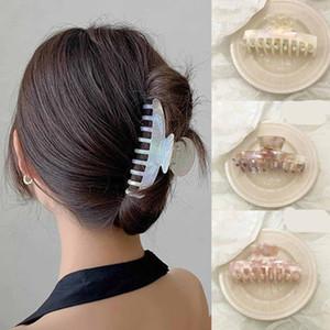 2021 Korean Style Leopard Hair Claws Mermaid Color Hair Claws Hairpins Hairgrip Hair Accessories Crab For Women Headwear