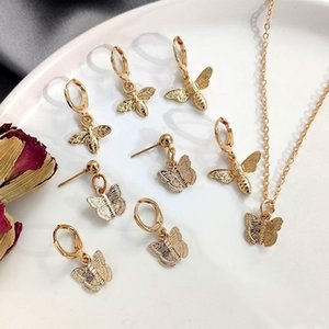 JUST FEEL Мода ювелирные изделия Симпатичные крошечные серьги обруча для женщин Девушки Золотой цвет бабочки пчелы висячие серьги хрящ Лучшие подарки