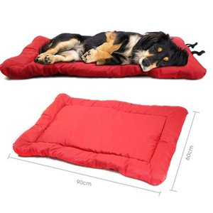 3 Colors Large Pet Dog Bed Portable Folding Oxford Cloth Pet Mat Waterproof Travel Anti-slip Dog Pad for Car Sofa Furniture 201130