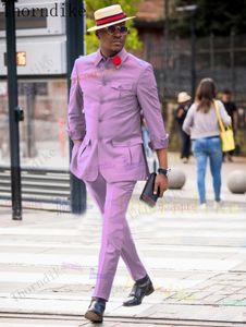 Thorndike mais recente casaco de calças projeta ternos para homens casamento fita fita formal terno homens noivo tuxedo traje de baile homme mariage mariage