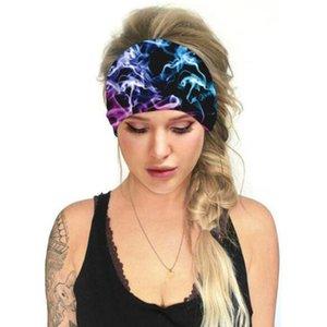 Floral Print Turban Knot HeadWrap Sports Elastic Yoga Bandeau de cheveux Mode Coton Tissu large bandeau pour femme Accessoires de cheveux