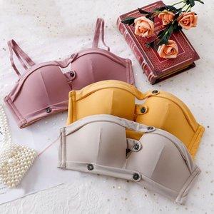 Wasteheart Yeni Kadın Moda Sarı Yastıklı Sapanlar Yarım Fincan Sütyen Pamuk Külot Push Up Sutyen Sexy Lingerie Set Iç Çamaşırı