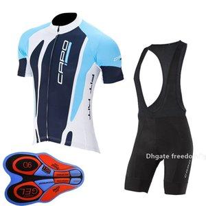 2021 Yaz Erkek Capo Takım Bisiklet Jersey Seti Nefes Hızlı Kuru Kısa Kollu Yol Bisikleti Giyim Mtb Bisiklet Sporları Üniforma Y102503