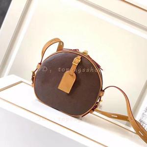 Luxurys Designer Kreis Crossbody Bag 2020 Heiß Verkauft Frauen Original Marke Mode Braun Echtes Leder Runde Handtaschen Geldbörsen Schultertaschen