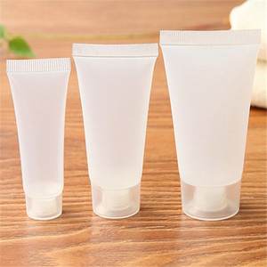 5ml 10ml 15ml 20ml 30ml 50ml 100ml fosco garrafa vazia reutilizável plástica cosmética macia Tubes Viagem Maquiagem Container Squeeze Bottle BC H4369