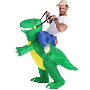 Inflatable Ride on Dinosaur Costumes Cosplay Blow Up Halloween Inflatable Costume Party costume for Adult Kid
