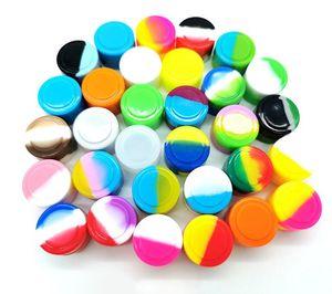 Recipientes de cera antiaderca Caixa de silicone 5ml Recipiente de silicone de silicone alimentos frascos de ferramentas de armazenamento de ferramentas de armazenamento de ferramentas para vaporizador Vape FDA aprovado