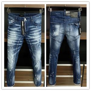 2021 Новая марка модных европейских и американских мужских повседневных джинсов, высококачественной стирки, чистого ручного шлифования, оптимизация качества LA383