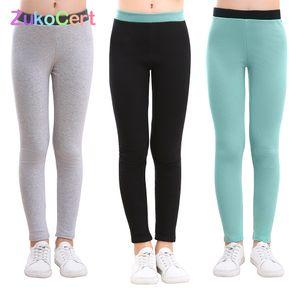 Zukosert Gençler Kızlar Tayt Sonbahar Sıcak Pamuk Kız Sıska Kalem Pantolon Çocuklar Kalınlaşmak Kız Pantolon Tayt 3-12Y Çocuk Y200704