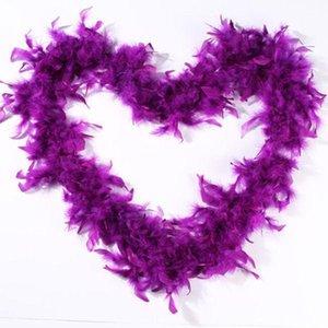 핑크 샹들리에 깃털 보아 200cm / PC 포장 Burlesque 캔실 섹시한 의상 액세서리 터키 Marabou 깃털 보아 많은 색상