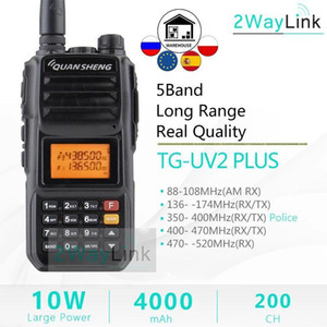 QuanSheng TG-UV2 Plus 10W Long Range Talkie Walkie vhf uhf 5 Bands Standby High Power Walkie- Talkie 10KM 4000mah 2 Way Radio1