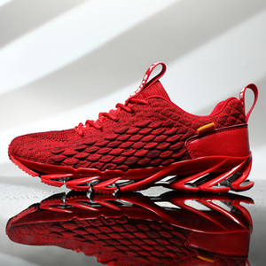 Yeni Erkek Ayakkabı Tasarımcısı Sneakers Erkekler Dokuma Trend Süspansiyon Mesh Günlük Ayakkabılar Bıçak Trainer Erkek Ayakkabıları Tenis Feminino 201008