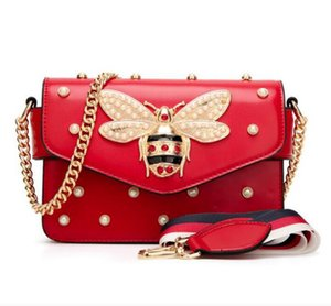 2020 Women Color Splicing Little Bee handbag Fashion Magneti designer luxury handbags purses Casual Shoulder Bag cross body Bag mini purse