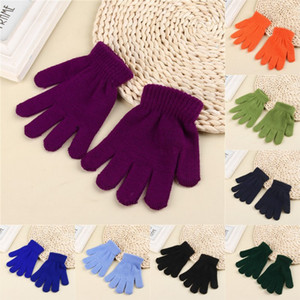 Magic Student Gloves Winter Warmer Full Finger Gloves Knitted Stretch Teenager Gloves Full Finger Mittens Free Size Xmas Access X693FZ