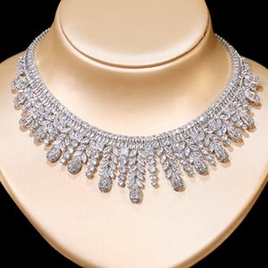 Luxury Ladies 4 style Necklace and Earrings Jewelry Set Bride Engagement Wedding Jewelry Party Accessories Wedding