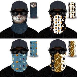 Halloween Christmas Magic Schal Mode Geisterfest Lady Man Windschutztuch Hals Gaiters Außenantistaub Thin Masken 6 5yl G2