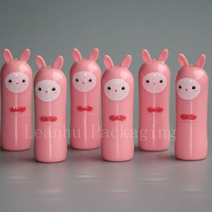 high quality empty cute pink Alpaca shape lip gloss container , kid design lipstick cosmetic containers, stick tubes