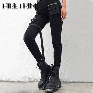 RIBETRINI Luxury Ladies Casual Women Shoes Chunky Platform Fashion Boots Women Motocycle Fashion Brand Platform Mid Calf Boots