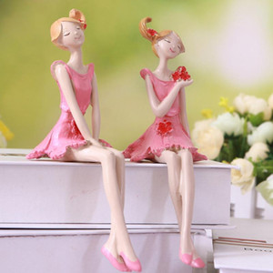 2Pcs Resin Angel Figurines Craft Beautiful Stand Angel Craft Fairy Figurine Wedding Party Gift Home Decor Accessories Souvenir