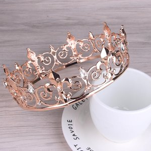 European and American bridal crown headdress alloy diamond knot wedding accessories hot style hair accessories big round crown