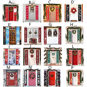 Christmas Couplet Flags Banner Wall Pendants Door Hanging Couplets Christmas Party Supplies Outdoor Garden Party Decoration