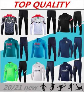 Palestina tuta giacca 2020 2121 Napoli calcio vestiti di addestramento di formazione pantaloni tuta di calcio Leeds United abbigliamento sportivo per uomo maglione set