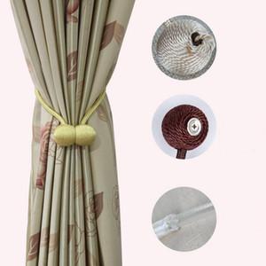 Magnétique Rideau Embrasses Simplicité acier magnétique Boucle de rideau Sans poinçonnage rideau Headings Chambre corde Sangle Home Decor Cls186