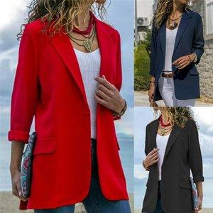 3 цвета осень женской нагрудный Slim Fit Outwear Бизнес Blazer костюм куртка кардиган пальто