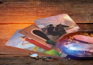 78pcs Tarot-Karte Deck Triple Goddess Tarot Oracle Cards Altmodische Farbe Centennial Tarotkarten Spiel-Brettspiel Family Table yxlaHN