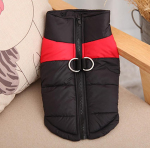 The new pet clothes autumn and winter dog warm vest pet dog vest coat with belt loop pet dog clothes off