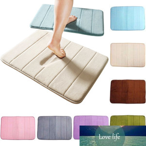 1PC New Thickening Non Slip Carpet Bath Mat Bathroom Coral Velvet Memory Foam Doormat Rug Water Absorption Floor Slow Rebound