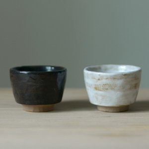 Antique Small Tea Bowl Vintage Tea Cup Coarse Pottery Handmade Stoneware Teacup